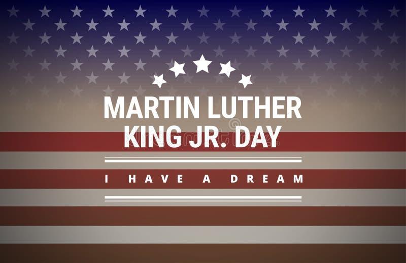 Carte de voeux de Martin Luther King Day - vecteur illustration stock
