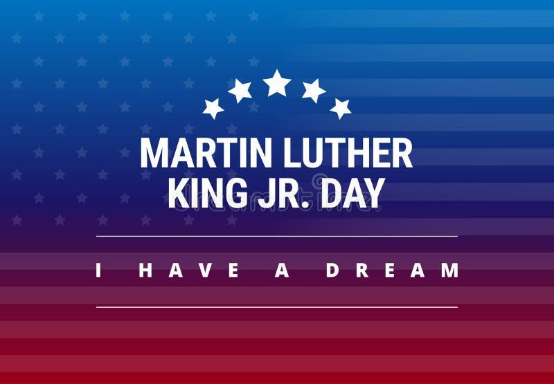 Carte de voeux de Martin Luther King Jr Day - j'ai un rêve illustration stock
