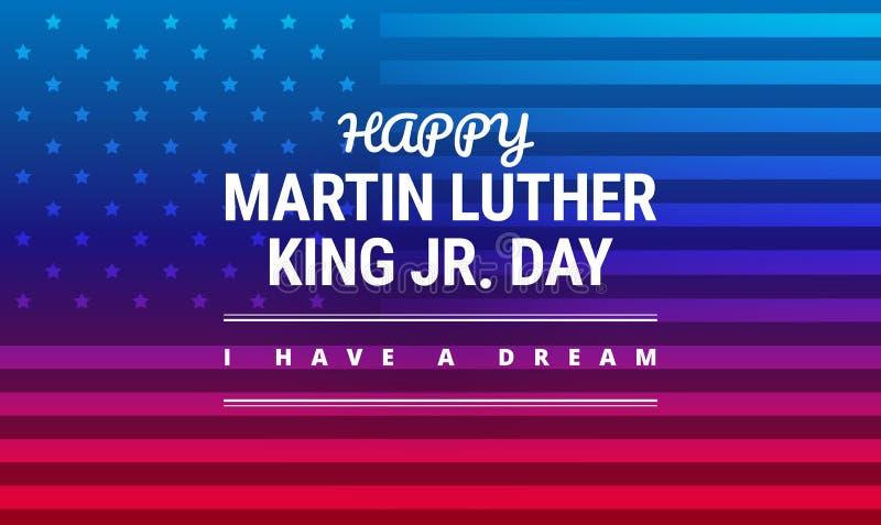 Carte de voeux de Martin Luther King Jr Day - j'ai un rêve illustration libre de droits