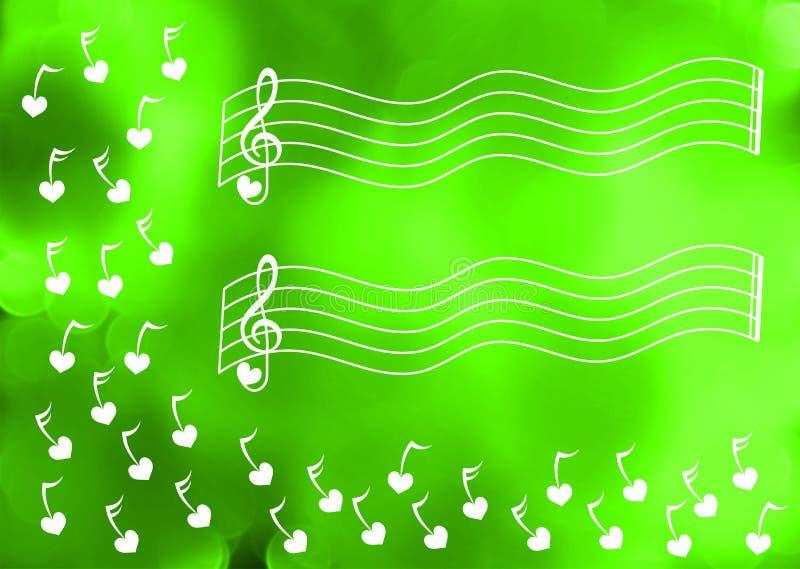 Carte de voeux musicale de feux verts illustration de vecteur