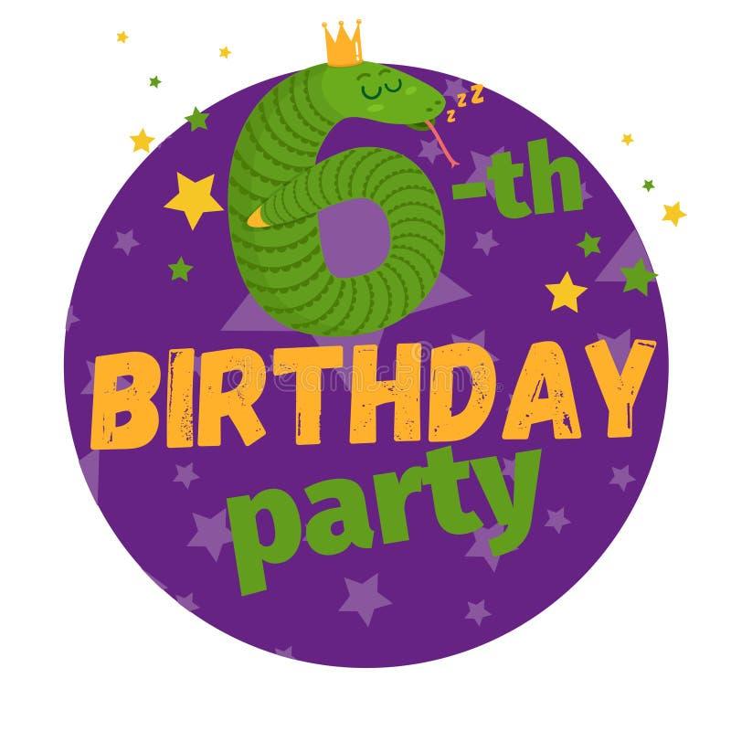 carte de voeux ou carte postale de fête d'anniversaire cartoon illustration libre de droits