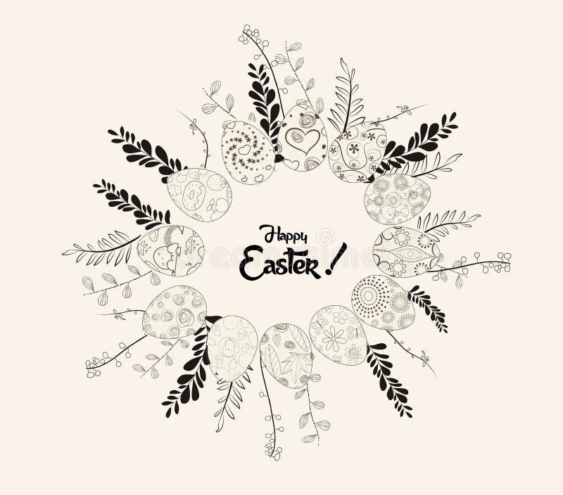 Carte de voeux de Pâques illustration stock