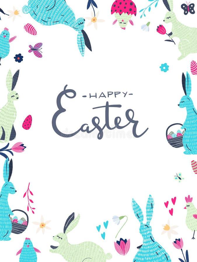 Carte de voeux Pâques image stock