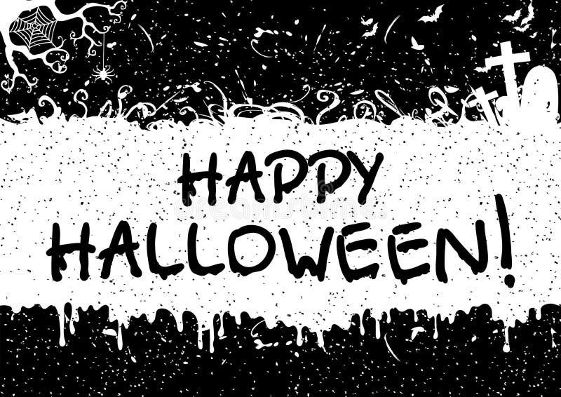 Carte de voeux pour Halloween heureux ! illustration stock