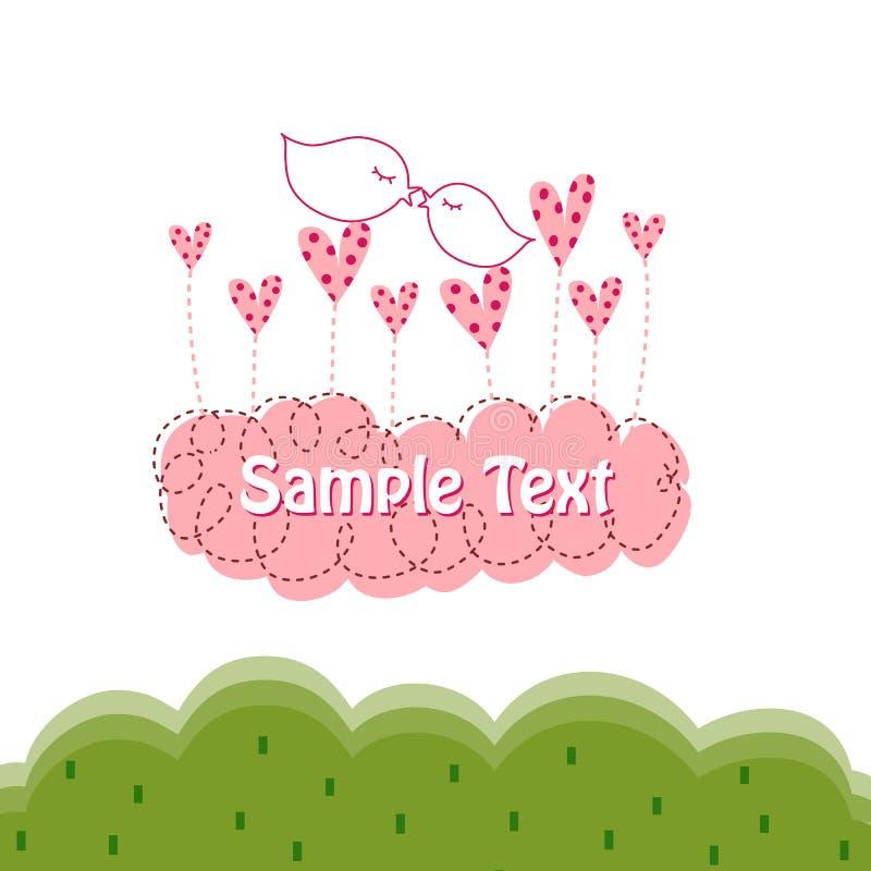 Carte de voeux pour l'amour illustration de vecteur