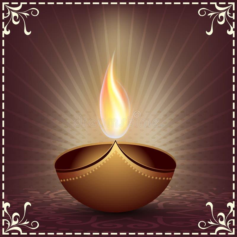 Carte de voeux pour la célébration de Diwali