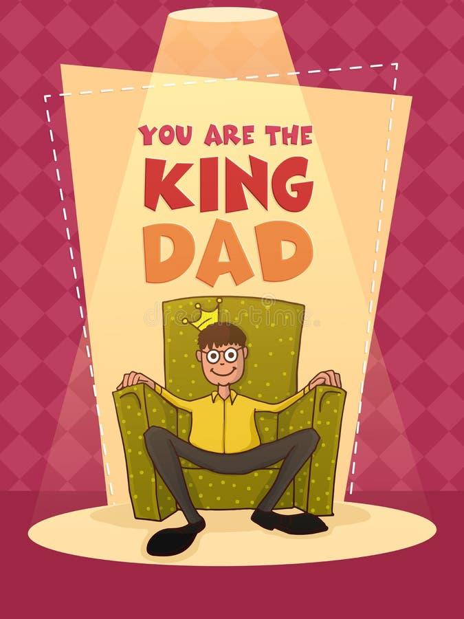 Carte de voeux pour la célébration heureuse du jour de père illustration stock