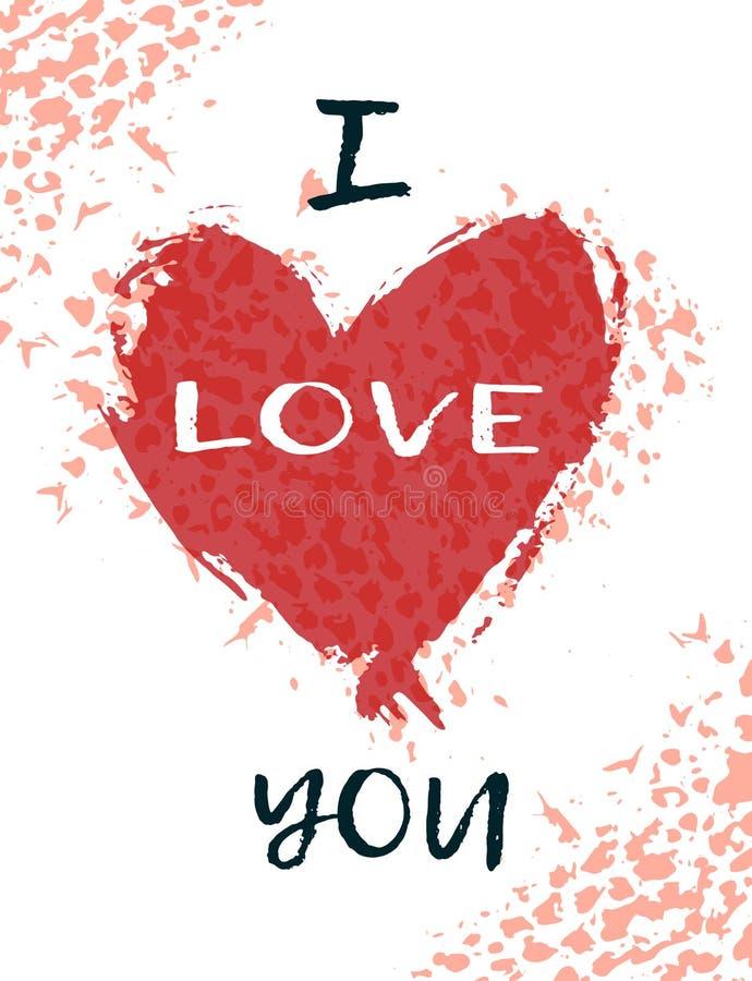 Carte de voeux pour le jour de St Valentine s Retrait de main illustration libre de droits