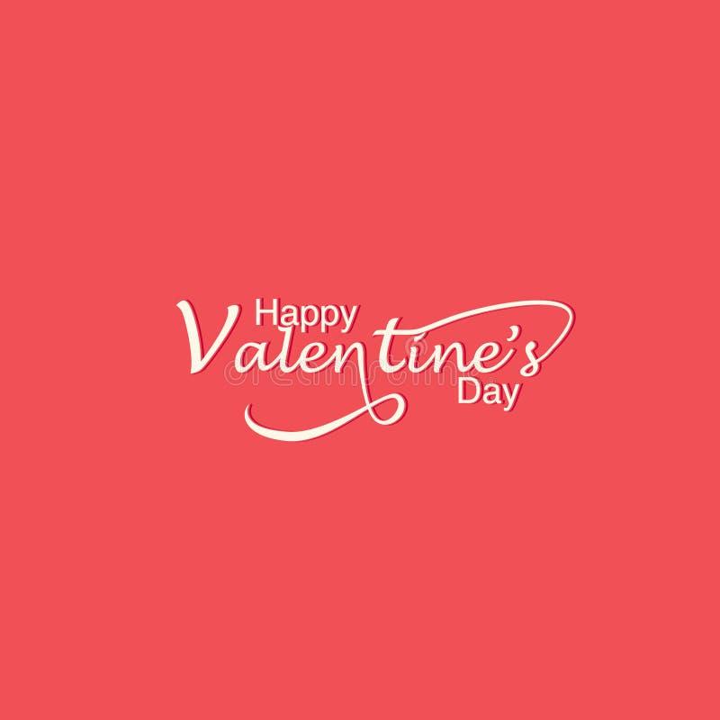 Carte de voeux romantique heureuse de jour de valentines, affiche de typographie avec la calligraphie moderne Rétro illustration  illustration libre de droits