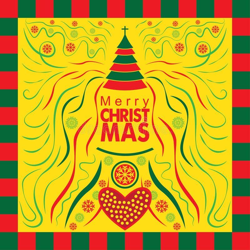 Carte de voeux spéciale de Noël avec le style abstrait images stock