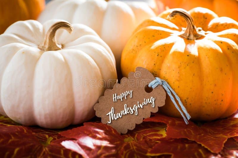 Carte de voeux de thanksgiving avec le jour heureux de thanksgiving d'écriture image stock
