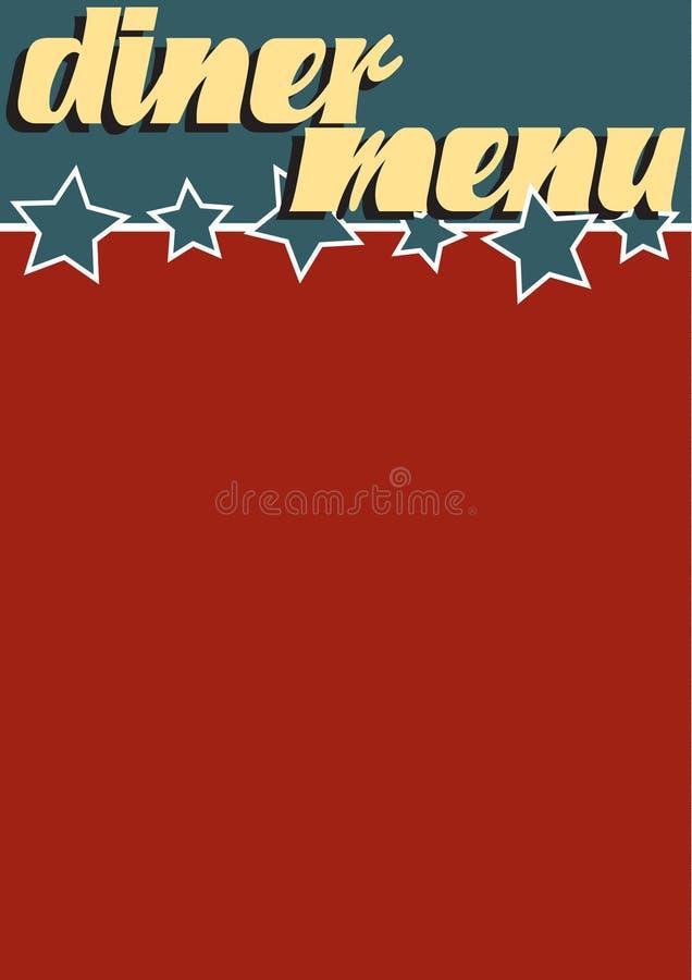 Carte de wagon-restaurant illustration de vecteur