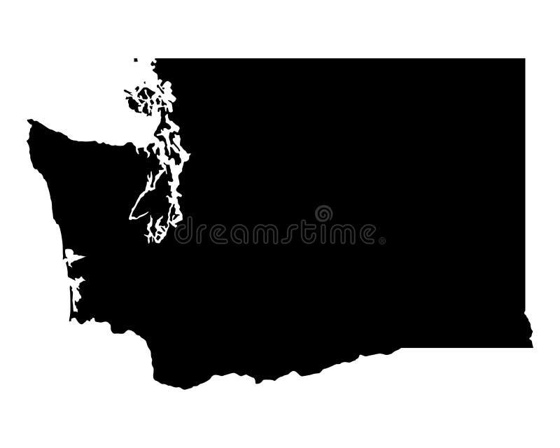 Carte de Washington illustration libre de droits