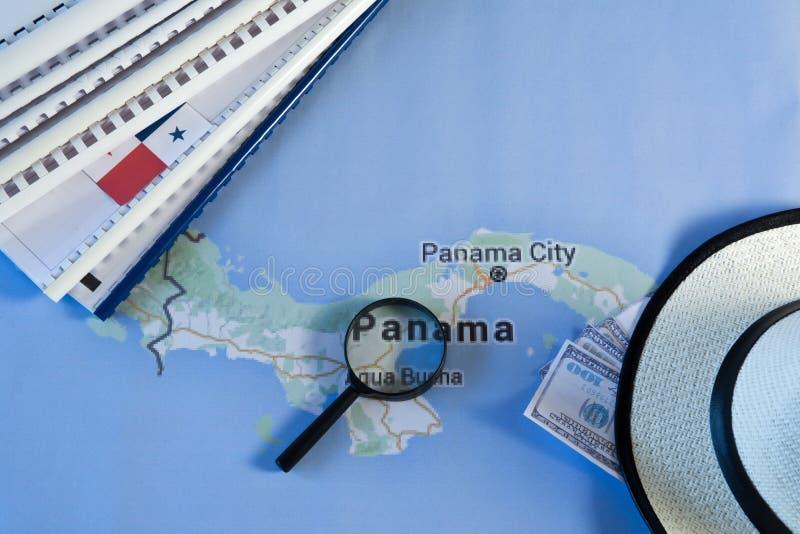 Carte del Panama fotografie stock