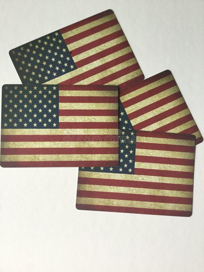 Carte della bandiera fotografia stock