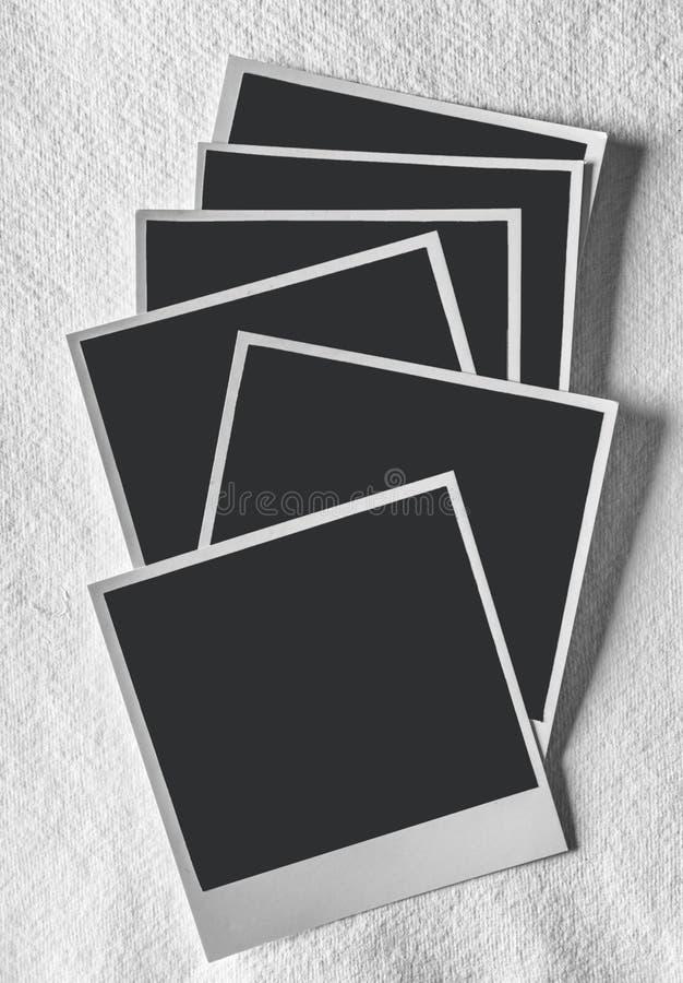 Carte della foto della polaroid immagini stock libere da diritti