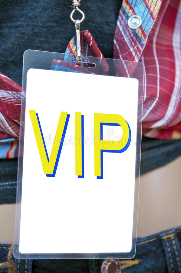 Carte des coulisses de passage de VIP photographie stock libre de droits