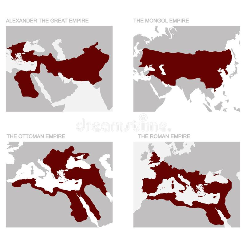 carte des empires antiques illustration libre de droits