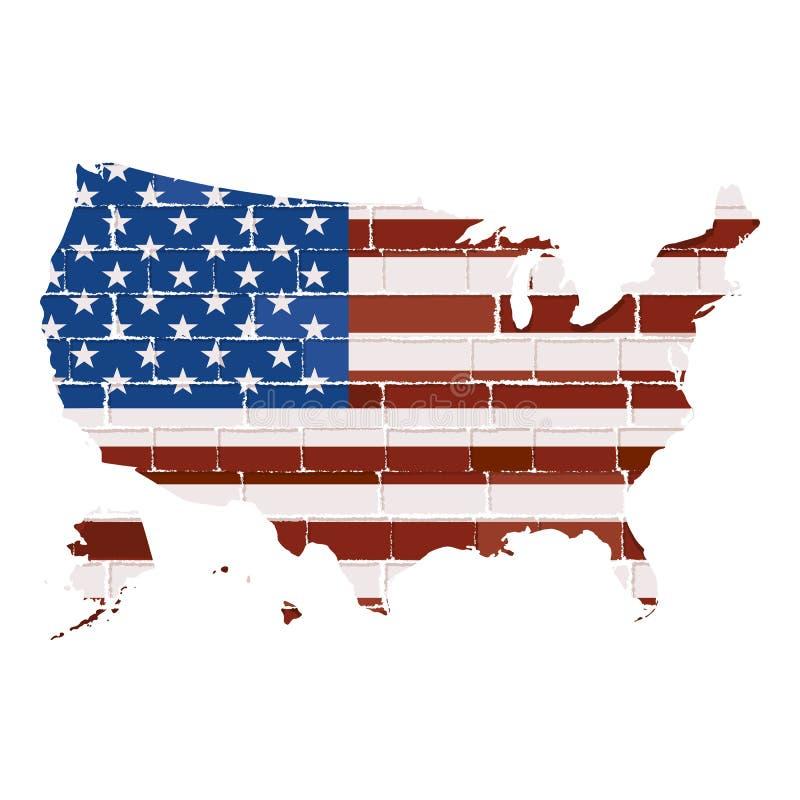 Carte des Etats-Unis illustration stock