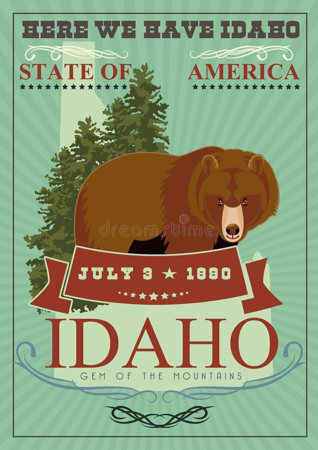 Carte des Etats-Unis d'Amérique avec l'ours illustration libre de droits