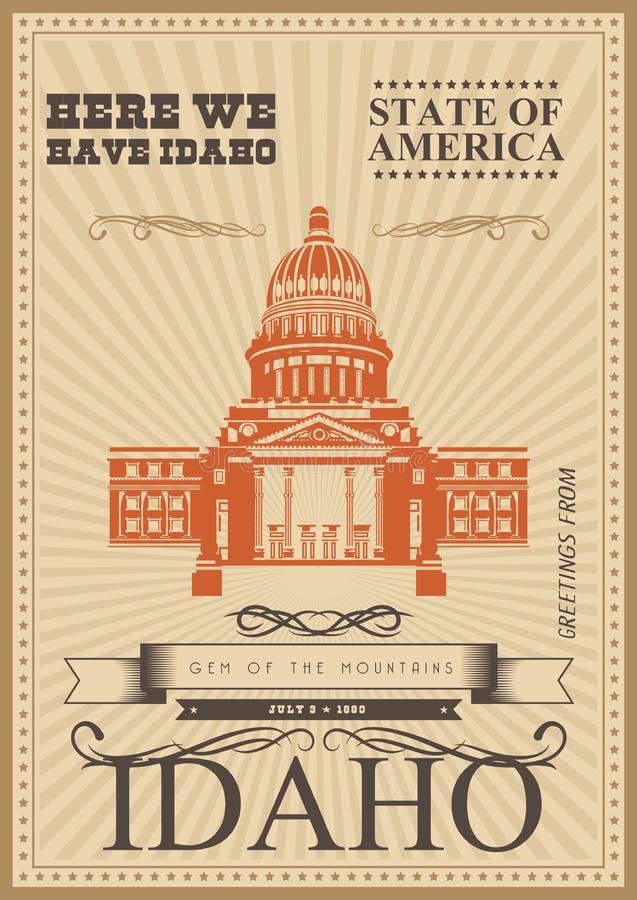 Carte des Etats-Unis d'Amérique boise illustration stock
