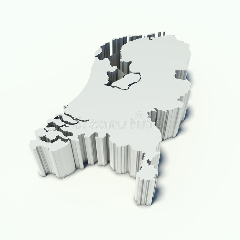Carte des Pays-Bas illustration stock