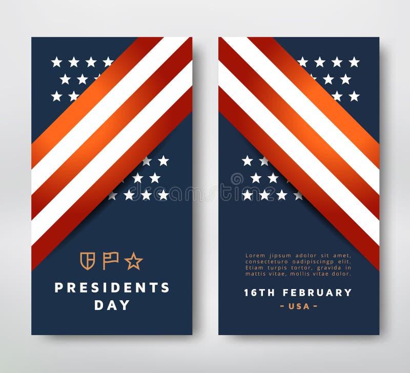 Carte des Présidents Day illustration libre de droits