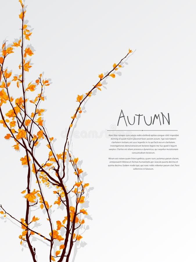 Carte des textes d'arbre d'automne illustration libre de droits