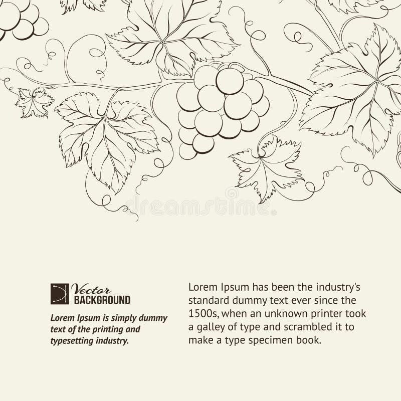 Carte des vins. illustration libre de droits