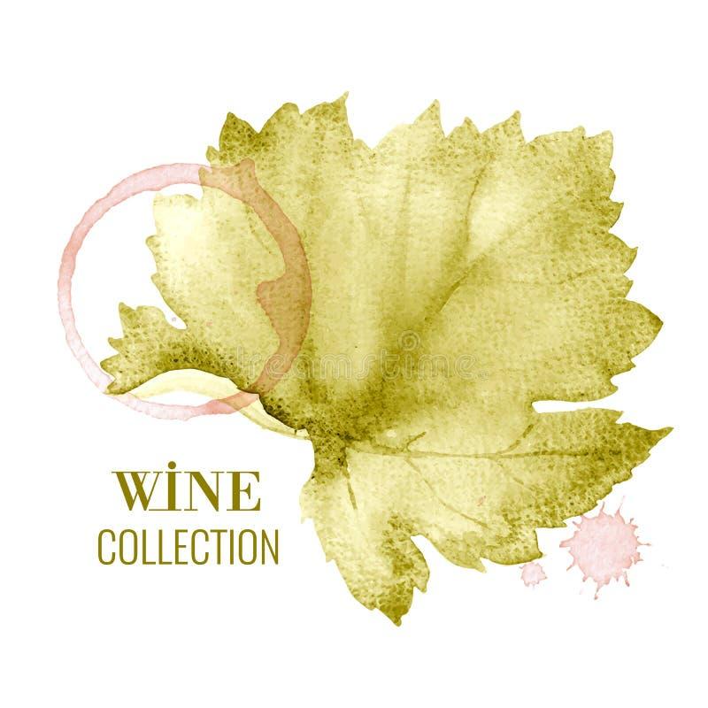 Carte des vins illustration libre de droits