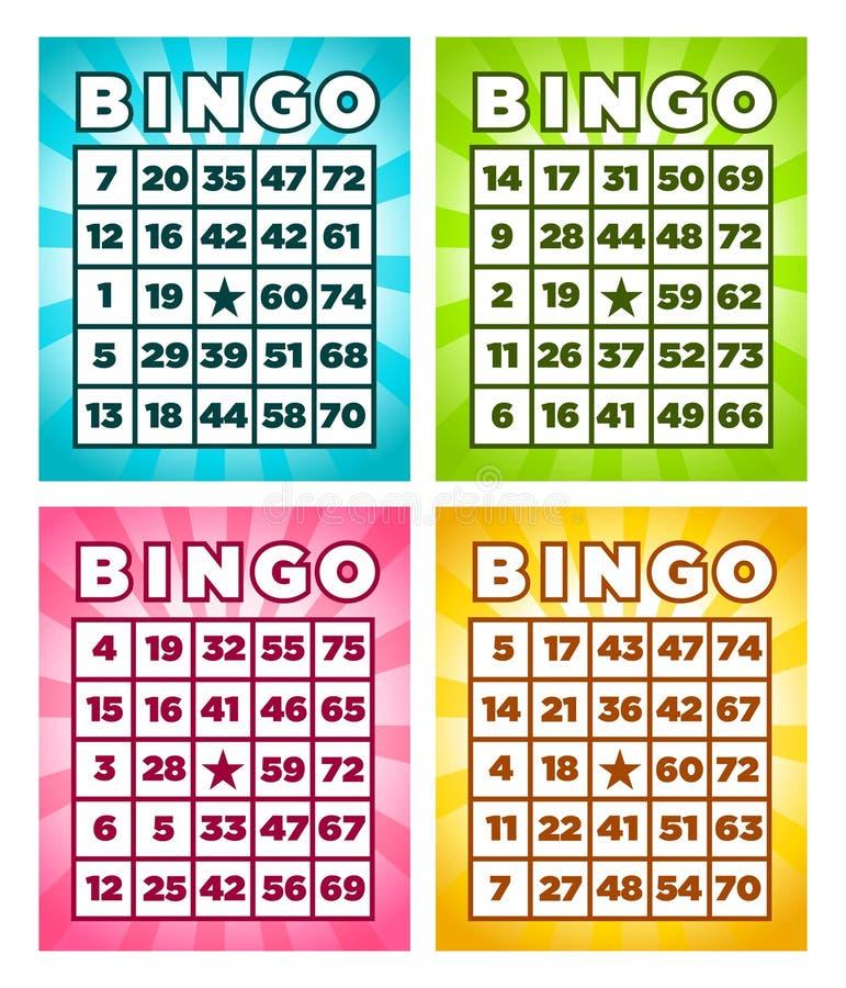 Carte di bingo royalty illustrazione gratis