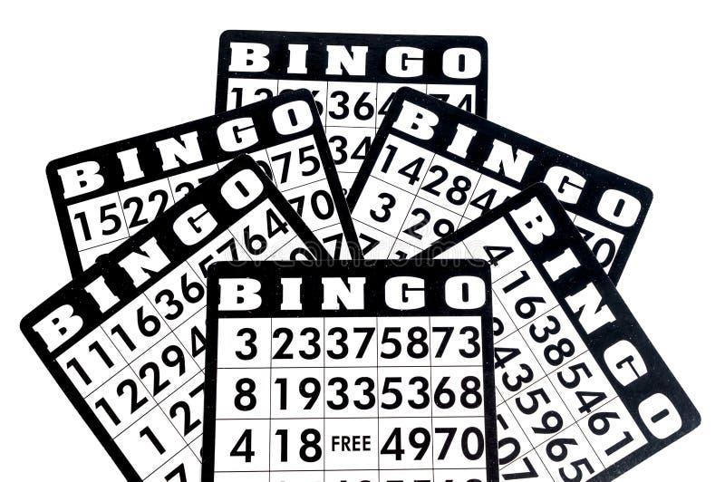 Carte di bingo immagine stock