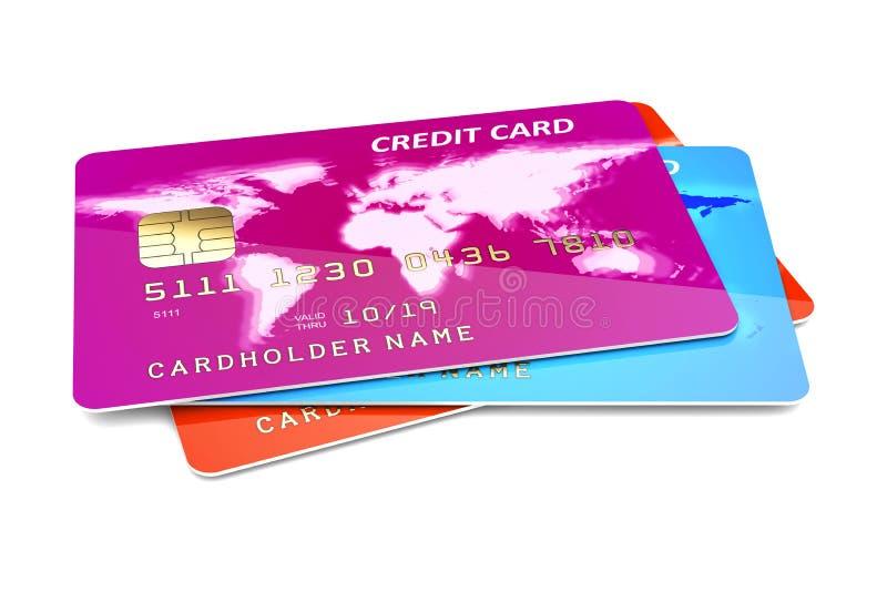 Carte di credito su un bianco royalty illustrazione gratis