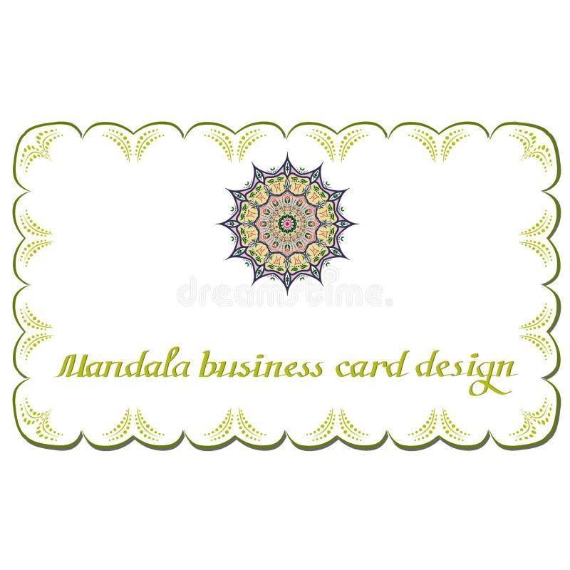 Carte di progettazione della mandala di affari Elementi decorativi royalty illustrazione gratis