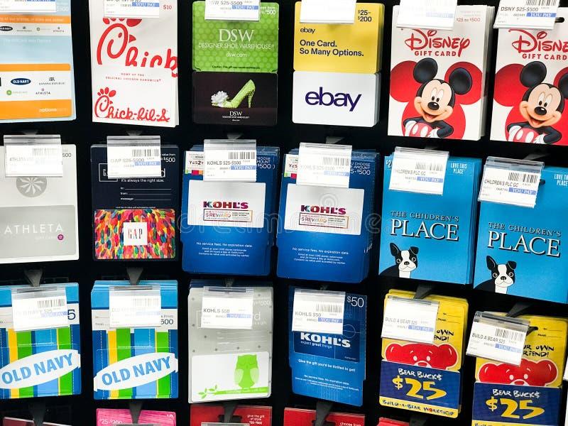 Carte di regalo da vendere fotografia stock
