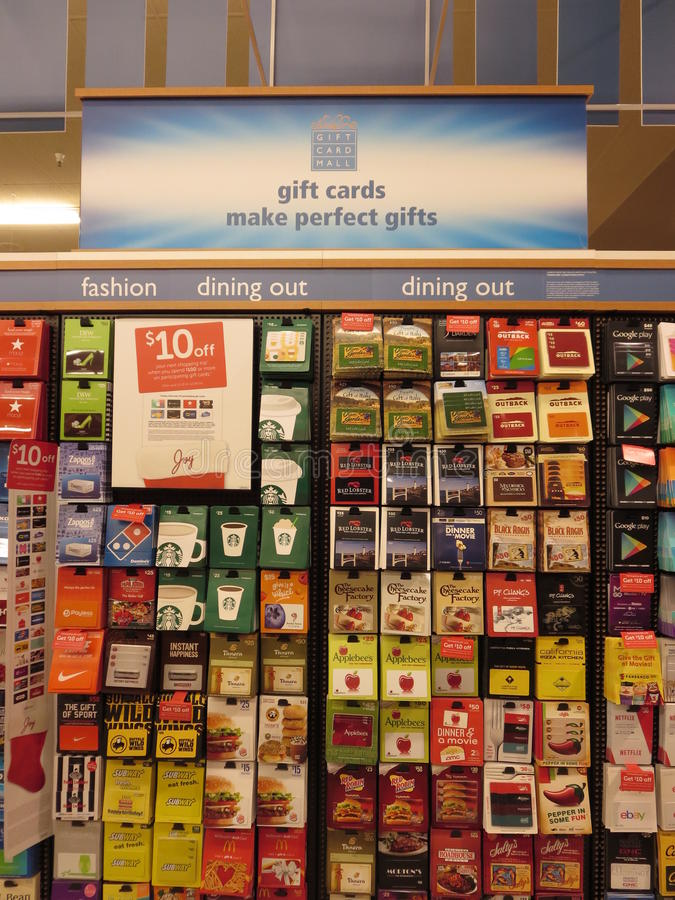 Carte di regalo pagate anticipatamente fotografia stock libera da diritti