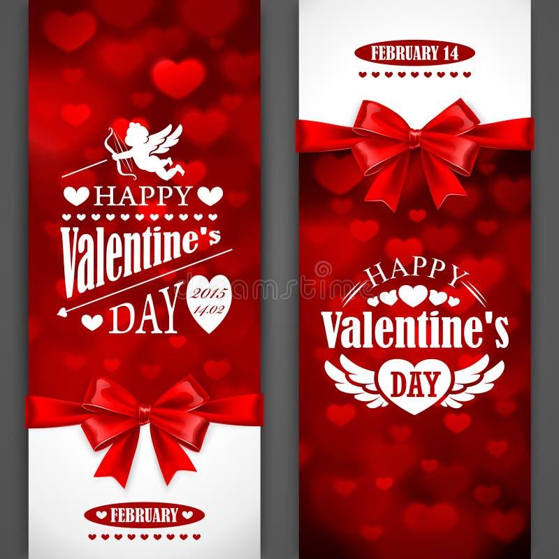 Carte di San Valentino royalty illustrazione gratis