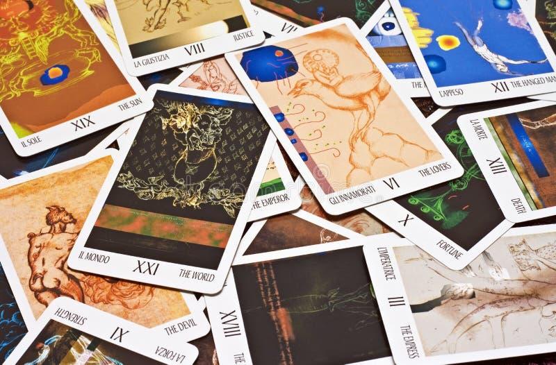 Carte di tarocchi fotografia stock libera da diritti