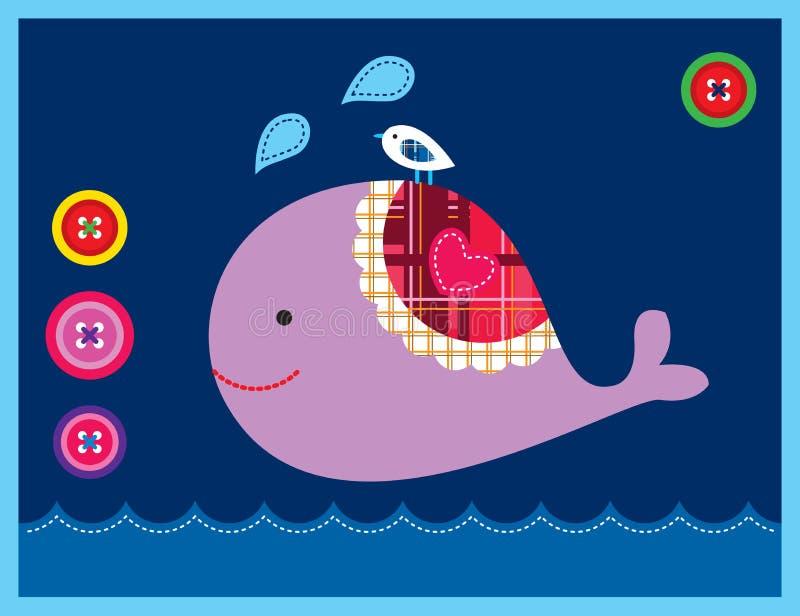 Carte douce de baleine photo libre de droits