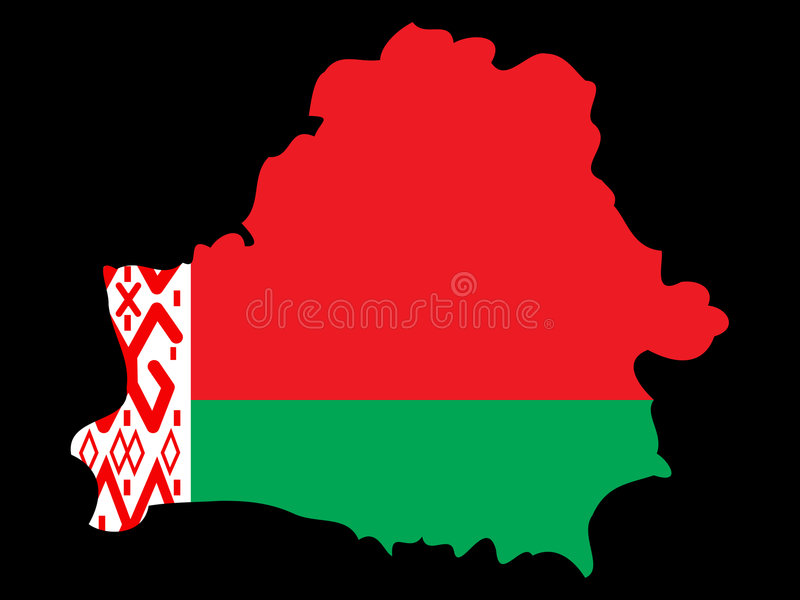 Carte du Belarus illustration stock