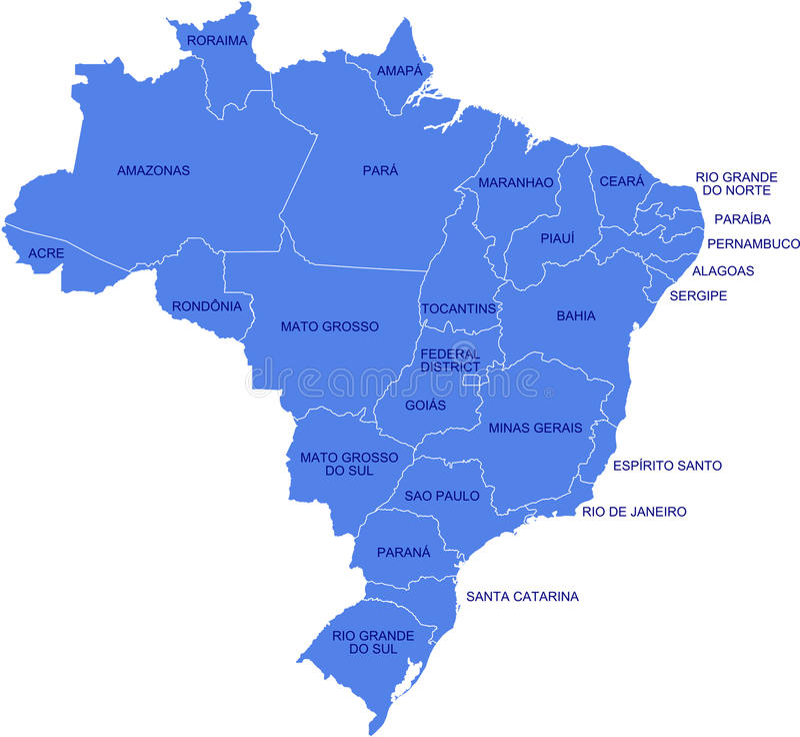 Carte du Brésil illustration de vecteur