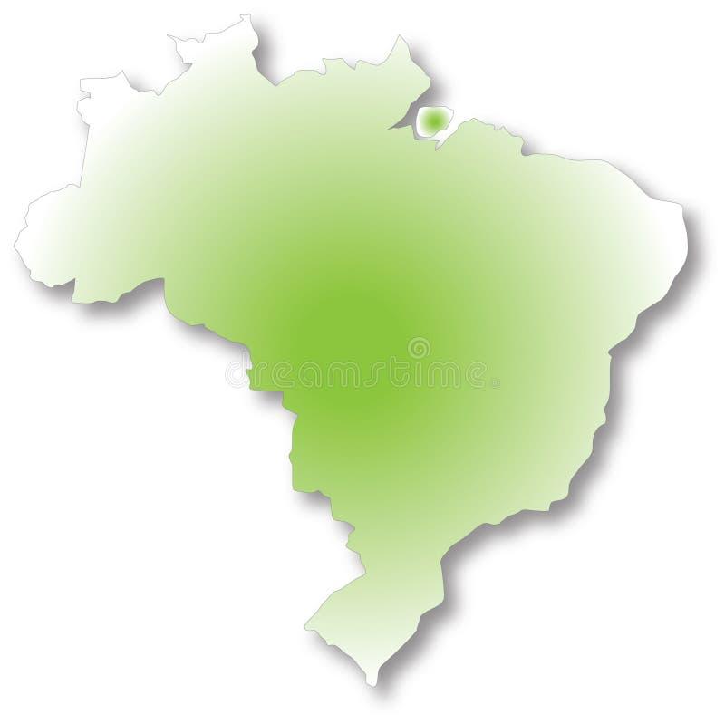 Carte du Brésil illustration libre de droits
