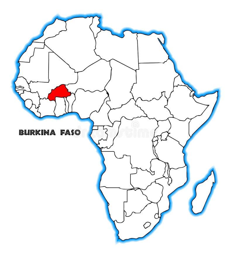 Carte Afrique Burkina Faso.Carte Du Burkina Faso Afrique Illustration De Vecteur