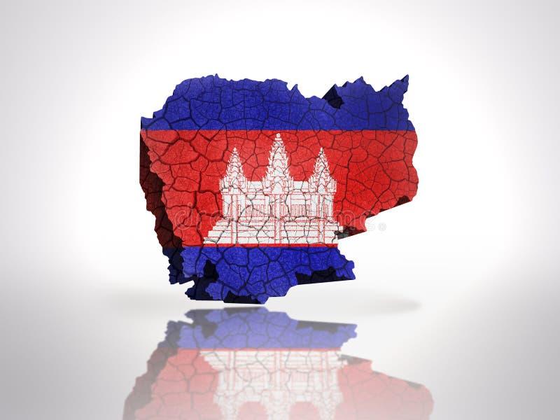 Carte du Cambodge illustration libre de droits