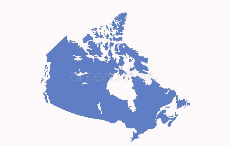 Carte du Canada illustration de vecteur