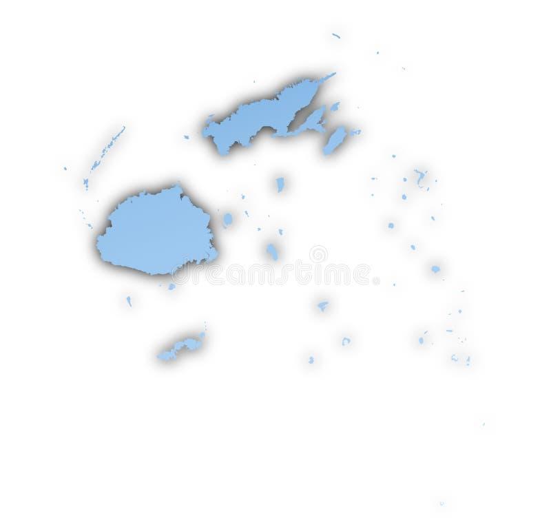 carte du Fiji illustration de vecteur