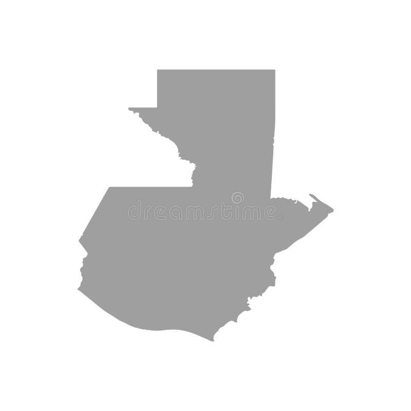 Carte du Guatemala dans le gris sur un fond blanc illustration de vecteur