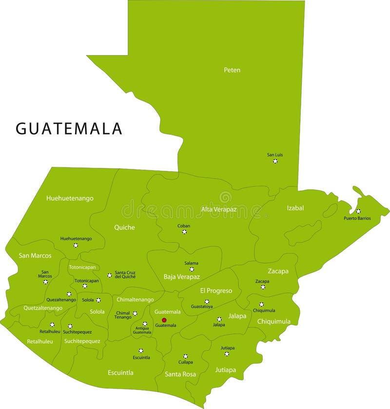 Carte du Guatemala de vecteur illustration libre de droits