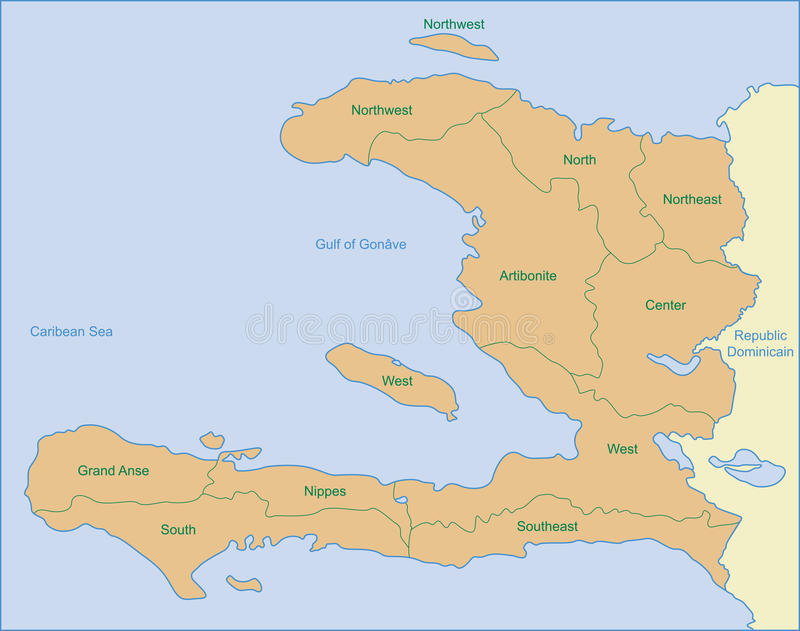 Carte du Haïti photos libres de droits
