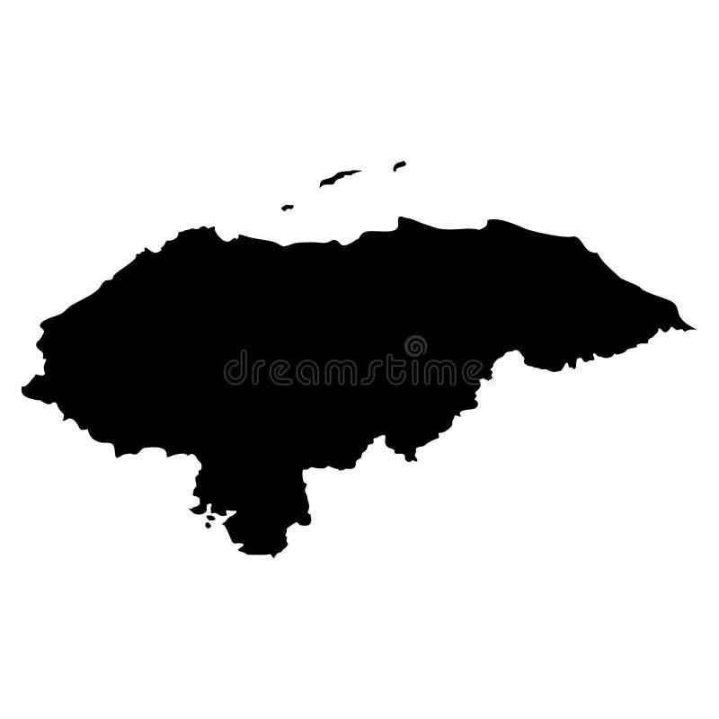 Carte du Honduras illustration de vecteur